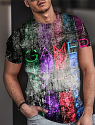 cheap -Men's Unisex Tee T shirt Shirt 3D Print Graphic Prints Game Game Console Print Short Sleeve Daily Tops Casual Designer Big and Tall Black / Summer