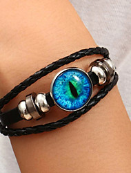 cheap -Women's Bead Bracelet Braided Cat Eye Stylish Simple Ethnic Leather Bracelet Jewelry Black For Party Evening Gift Formal Prom Date