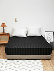 cheap -Simulation silk satin striped fitted sheet mattress cover protective cover 1 piece