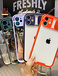 cheap -Phone Case For Apple Back Cover iPhone 12 Pro Max 11 SE 2020 X XR XS Max 8 7 6 Shockproof Dustproof Transparent Solid Colored Acrylic