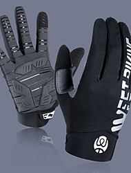 cheap -Bike Gloves / Cycling Gloves Touch Gloves Reflective Warm Quick Dry Wearable Full Finger Gloves Sports Gloves Lycra Blue Grey Black for Adults' Outdoor Exercise Cycling / Bike