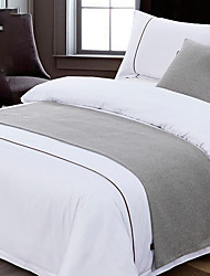 cheap -Solid Bed Runner Scarf Protector Slipcover Bed Decorative Scarf for Bedroom Hotel Wedding Room