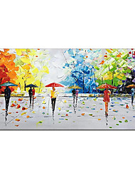 cheap -Oil Painting Handmade Hand Painted Wall Art Color People Abstract Pictures Home Decoration Decor Stretched Frame Ready to Hang