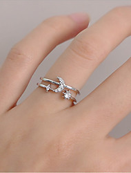 cheap -Ring Classic Silver Rhinestone Alloy Moon Star Butterfly Stylish Elegant European 1pc One Size / Women's