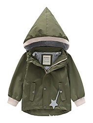 cheap -Kids Unisex Jacket & Coat 1pc Pink pointed hat double pockets plus velvet Pink pointed hat double pockets Red pointed hat double pockets plus velvet Solid Color Stars Daily Wear Casual Daily