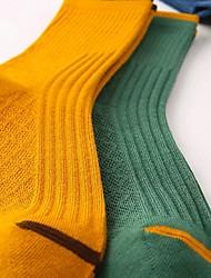 cheap -Men's Socks Multi Color Socks Warm Casual Multi color 5 Pairs