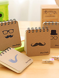 cheap -Kraft Paper Coil notebook back to school office 16K Workbooks Notepad Retro Car Line Writing Pads Diarybook 8.5*10cm 1pcs