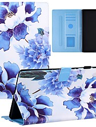cheap -Case For Lenovo Tablets Full Body Case Lenovo Tab M10(TB-X605F) Shockproof Dustproof Graphic Flower Marble PU Leather