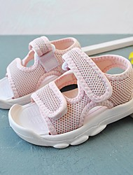 cheap -Boys and Girls Sandals Baby Shoes Sports & Outdoors Flat Lightweight First Walkers Mesh Sporty Look Toddler(9m-4ys) Daily Beach Water Shoes Walking Shoes LeisureSports Pink White