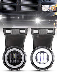 cheap -OTOLAMPARA 2pcs Dodge Ram LED Fog Lights with DRL 55W 5500K Clear Lens Fog Lamp Replacement for 1994 1995 1996 1997 1998 1999 2000 2001 2002 Dodge Ram 1500 2500 3500