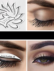 cheap -24 Pcs Eyeliner Stencils Eye Makeup Template Stickers Card 12 Styles Non-Woven Eyeliner Eyeshadow 3 Minute Lazy Shaping Tools