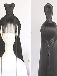 cheap -halloweencostumes Vintage Wig Modelling Wig Hanfu Chinese Ancient Style Wig Multi-purpose Ancient Costume Whole Wig Cap Custom Product