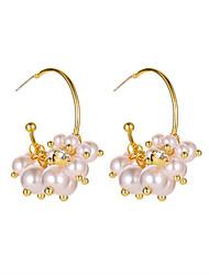 cheap -Pearl Drop Earrings S925 silver needle new multi-layer C-shaped Pearl Earrings