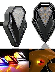 cheap -2pcs Motorcycle LED Turn Signal Indicators Amber Blinker Left Right Daytime Running Light Universal Signal Lamp Moto LED