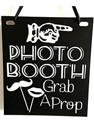 cheap -Wooden engagement listing wedding wooden shooting props wooden blackboard dual-purpose hanging board