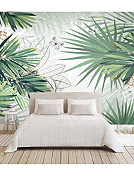cheap -Botanical Art Deco Floral Botanical Home Decoration Classic Modern Wall Covering, PVC / Vinyl Canvas Material Self adhesive Wallpaper Mural, Room Wallcovering