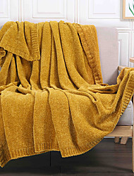 cheap -Amazon Cross-Border Exclusively For The New Chenille Solid Color Blanket Leisure Sofa Blanket Air Conditioning Blanket A Generation 120*170cm