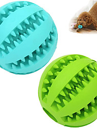 cheap -2 Pack Dog Toy BallNontoxic Bite Resistant Teething Toys Balls for Small/Medium/ Large Dog and Puppy Cat  Dog Pet Food Treat Feeder Chew Tooth Cleaning Ball Exercise Game IQ Training Ball