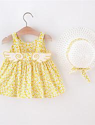cheap -[90-130cm] girl's sweet flower sling dress