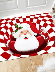 cheap -cross-border christmas carpet mat santa claus red gift gift advertising mat living room bedroom entry mat