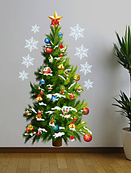cheap -Christmas Wall Stickers Bedroom / Living Room Removable PVC Home Decoration Wall Decal 1pcc 50*70CM