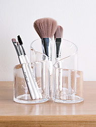 cheap -Cosmetic Brush Storage Barrel Transparent Acrylic Eyebrow Pencil Lipstick Storage Barrel Pen Barrel Desktop Cosmetic Storage Box S-type 14*13*12 cm