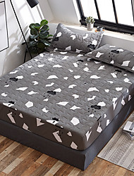 cheap -Three - dimensional cotton - clamped waterproof bed cap machine - washable mattress cover dust - proof cover one - piece bedspread