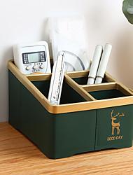 cheap -Back to school gift Multi-layer Large Capacity Desk Organizer Desktop Storage Box Pen Pencil Holder Green