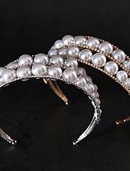 cheap -Bridal Crown Headdress Pearl Crystal Hair Hoop Fashion Wedding Dress Hair Modeling Wedding Dress Accessories