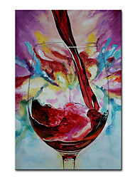 cheap -Oil Painting Handmade Hand Painted Wall Art Mintura Modern Abstract Red Wine Glass Picture For Home Decoration Decor Rolled Canvas No Frame Unstretched