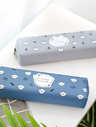 cheap -Pencil  pen  Case box back to school gift Cute animals Simple Stationery Bag Holder zippe 21.7*6 cm