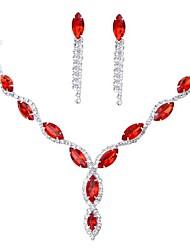 cheap -Women's Purple Black Red Jewelry Set Bridal Jewelry Sets Elegant Fashion Classic Earrings Jewelry Purple / Black / Red For Wedding Gift Formal Festival