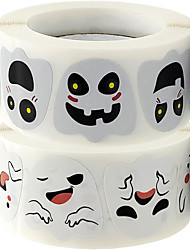 cheap -500pcs Halloween Stickers Ghosts Decorations Gift Package Seal Sticker