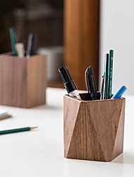 cheap -Creative Office Supplies North American Black Walnut Pen Holder Wooden Stationery Container Wooden Business Gifts Wholesale