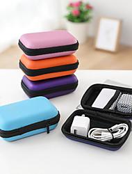 cheap -3pcs Zipper Hard Headphone Holder Case Portable Earbuds Pouch Box Earphone Storage Bag Protective USB Cable Organizer Storage