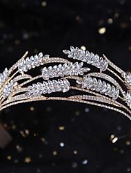 cheap -Luxury Wedding Crown Beautiful Wedding Bride Headdress Alloy Rhinestone Shining Queen's Wedding Dress Accessories