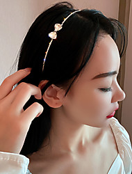 cheap -2 Pcs/set Fashion Simple Personality Trendy Headdress Inlaid With Diamond Butterfly Hair Band Headband Temperament Design Hair Accessories