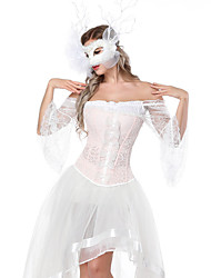 cheap -Corset Women's Bustiers Corsets Sweet Corset Dresses Tummy Control Push Up Tie Back Lace Lace Up Polyester Christmas Halloween Birthday Wedding Party Spring, Fall, Winter, Summer Blushing Pink / Bow