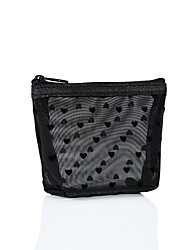 cheap -Ins Mesh Flocking Love Cosmetic Bag Portable Mouth Red Bag Travel Wash Storage Bag Sub Package Toilet Bag 6-piece Set