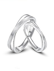 cheap -Couple Rings Geometrical Rose Gold Silver S925 Sterling Silver Stylish Simple Unique Design 2pcs Adjustable / Couple's / Adjustable Ring