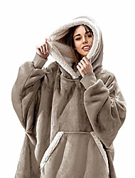 cheap -the original oversized sherpa wearable blanket hoodie   plush fleece blanket sweatshirt with pockets and sleeves for men and women   one size fits all (32x44 inches) (latte)