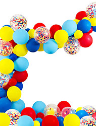 cheap -Red Green and Blue Rainbow Balloon Chain Latex Package Baby 1 Year Old Birthday Party Decoration Balloon