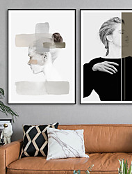 cheap -Wall Art Canvas Prints Painting Artwork Picture Women People Portrait Modern Home Decoration Decor Rolled Canvas No Frame Unframed Unstretched
