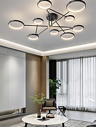 cheap -LED Ceiling Light 142 cm Globe Design Cluster Design Geometric Shapes Flush Mount Lights Acrylic Artistic Style Modern Style Stylish Black Modern Nordic Style 220-240V
