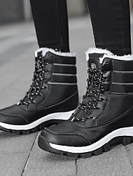 cheap -Women's Boots Platform Booties Ankle Boots Outdoor Cotton Lace-up Red Black / Booties / Ankle Boots