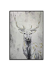 cheap -Oil Painting Handmade Hand Painted Wall Art Animal Home Decoration Decor Rolled Canvas No Frame Unstretched