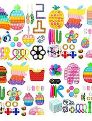 cheap -24 pcs Kit Fidges Toys Antistress Simpl Relief Fidget Toy Pack Adult Kid Push Bubble Sensory Desktop Educational Toys Squishy Kawaii