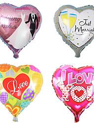 cheap -50pcs 18 Inch Heart-shaped Aluminum Foil Balloons Wedding Room Holiday Festival Decoration