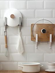cheap -Punch-free Multifunctional Pot Cover Rack Chopping Board Rack Wall-mounted Kitchen Storage Chopping Board Rack Kitchen Hook