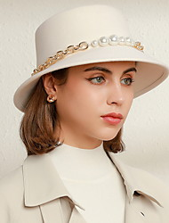 cheap -Wool Hats with Pearl 1pc Wedding / Party / Evening Headpiece